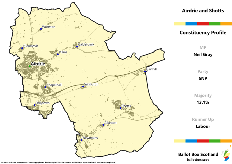 Airdrie and Shotts Constituency Map