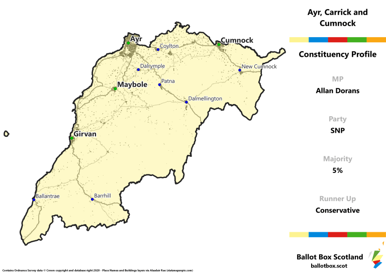 Ayr, Carrick and Cumnock Constituency Map