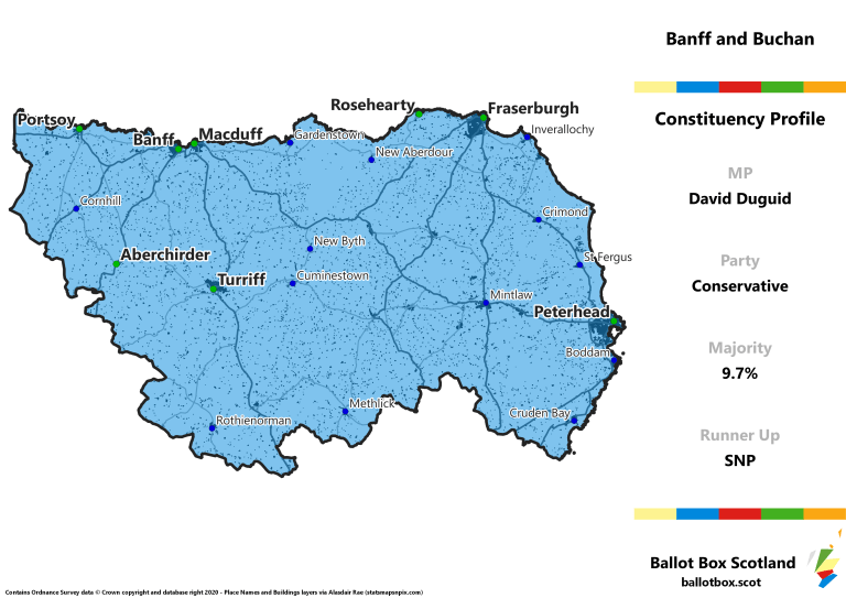 Banff and Buchan Constituency Map