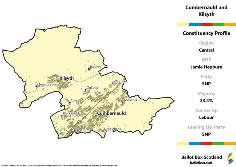 Central Region - Cumbernauld and Kilsyth Constituency Map