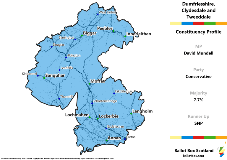 Dumfriesshire, Clydesdale and Tweeddale Constituency Map