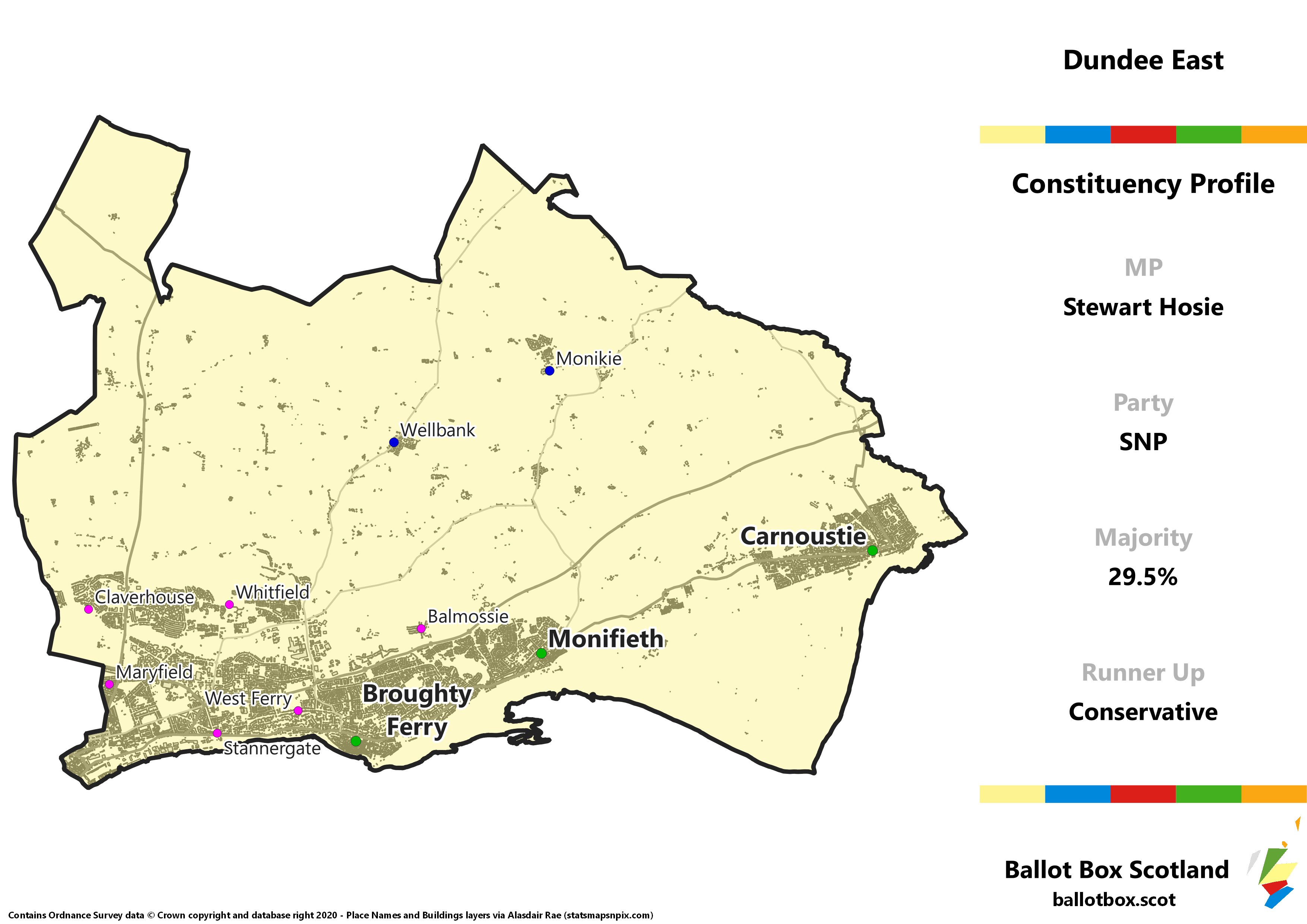 Dundee East Constituency Map