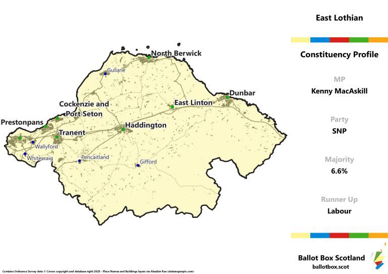 East Lothian Constituency Map
