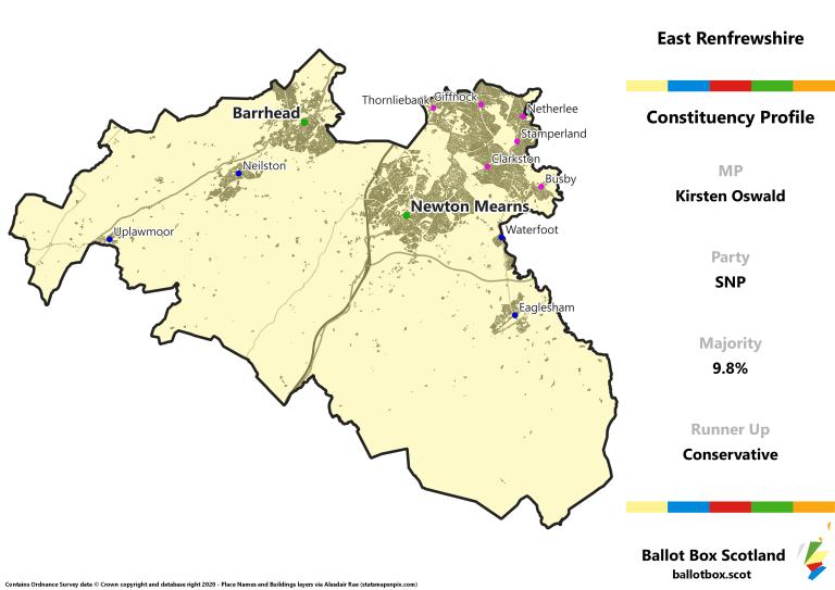 East Renfrewshire Constituency Map