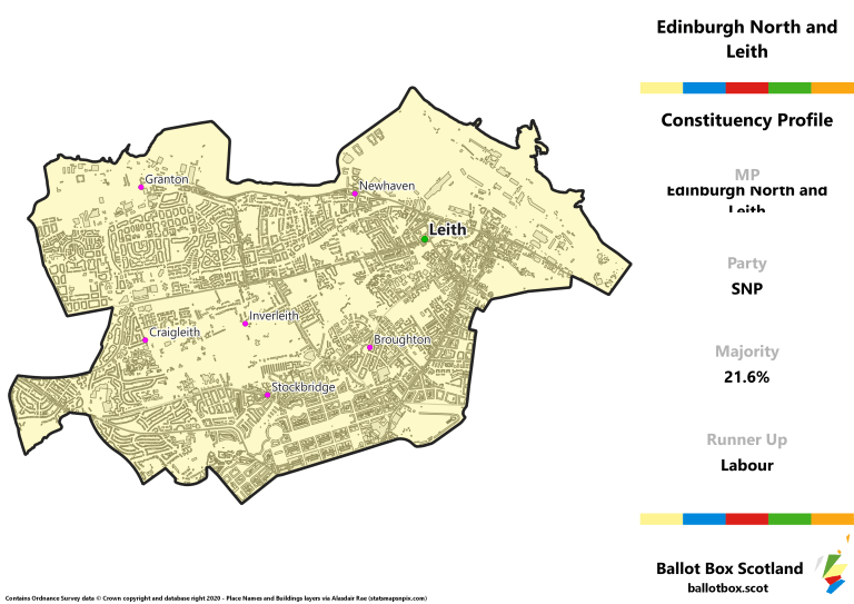 Edinburgh North and Leith Constituency Map