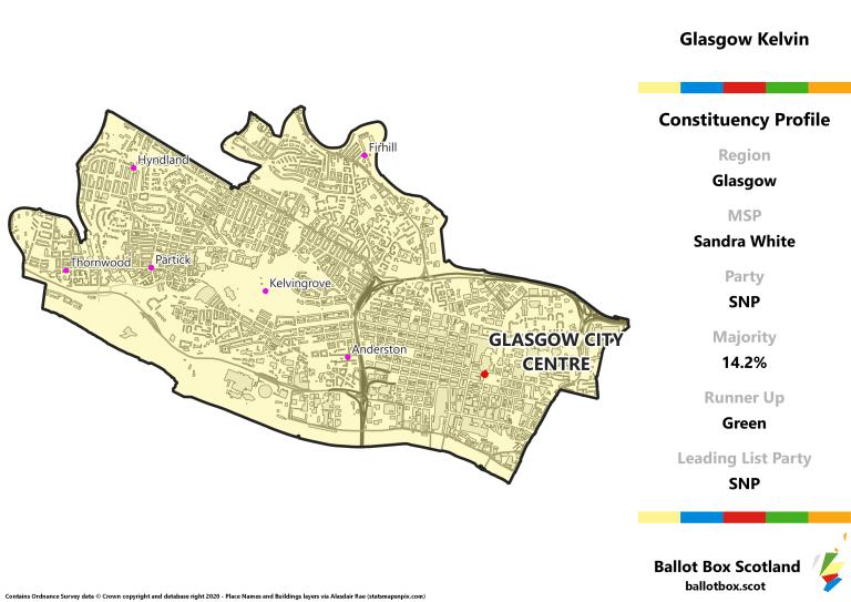 Glasgow Region - Glasgow Kelvin Constituency Map