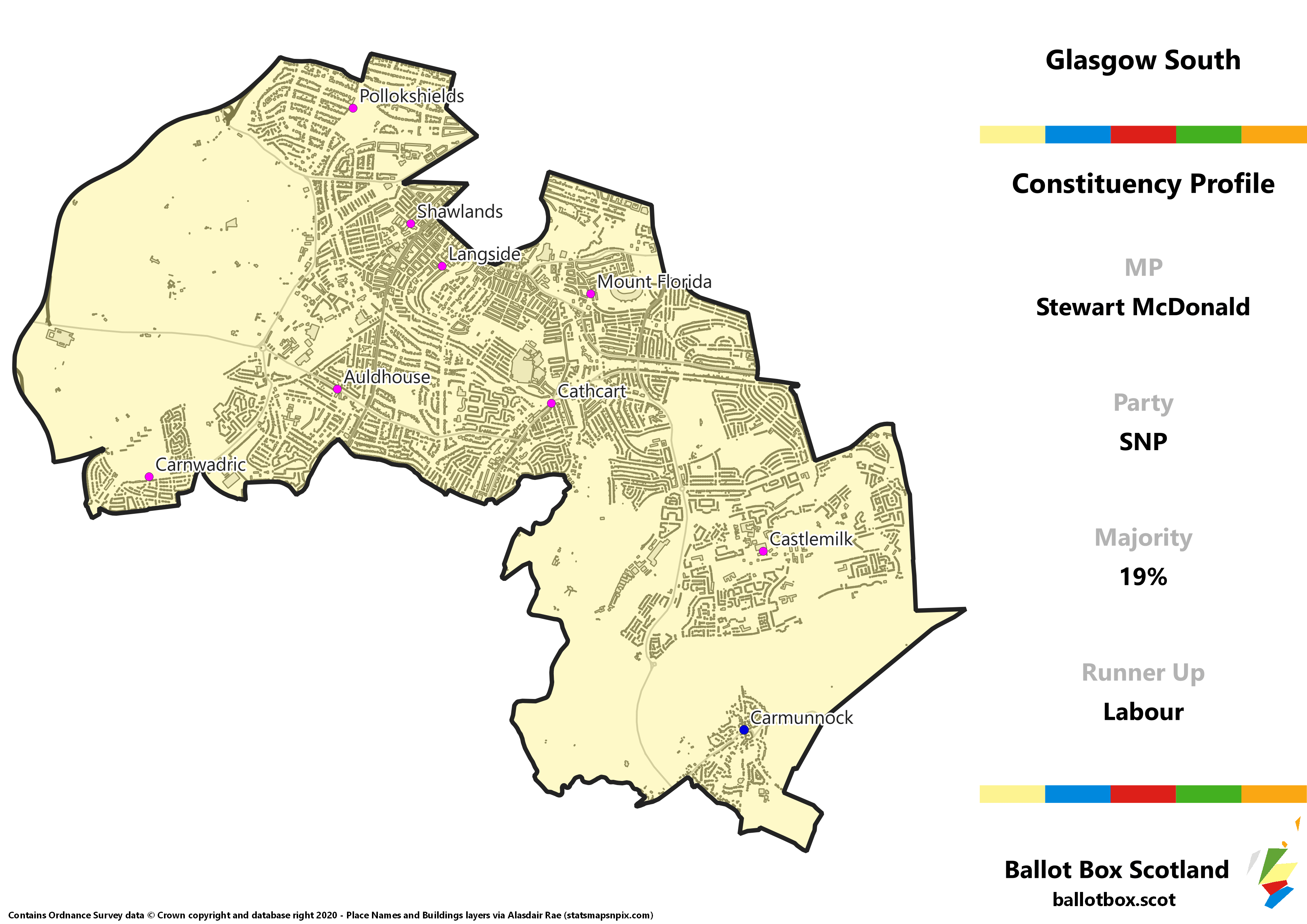 Glasgow South Constituency Map