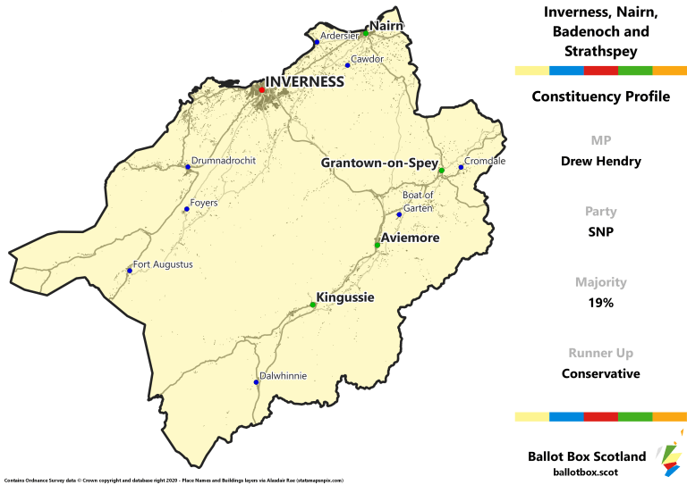 Inverness, Nairn, Badenoch and Strathspey Constituency Map