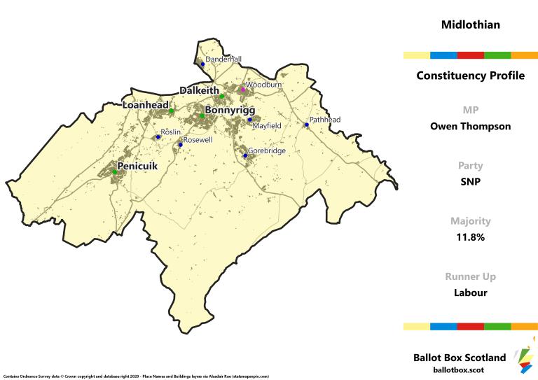 Midlothian Constituency Map