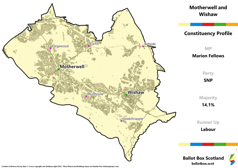 Motherwell and Wishaw Constituency Map