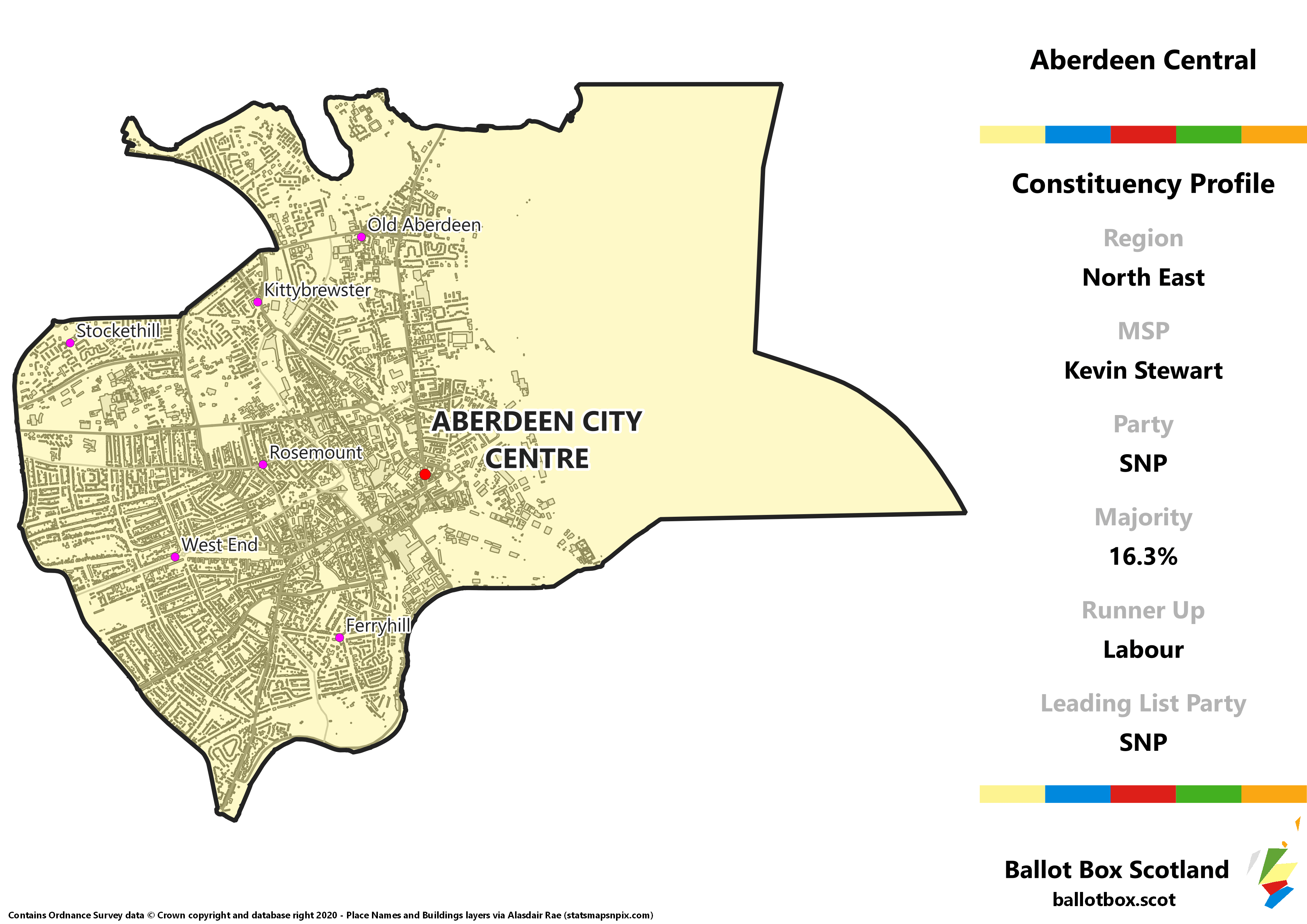 North East Region – Aberdeen Central Constituency Map