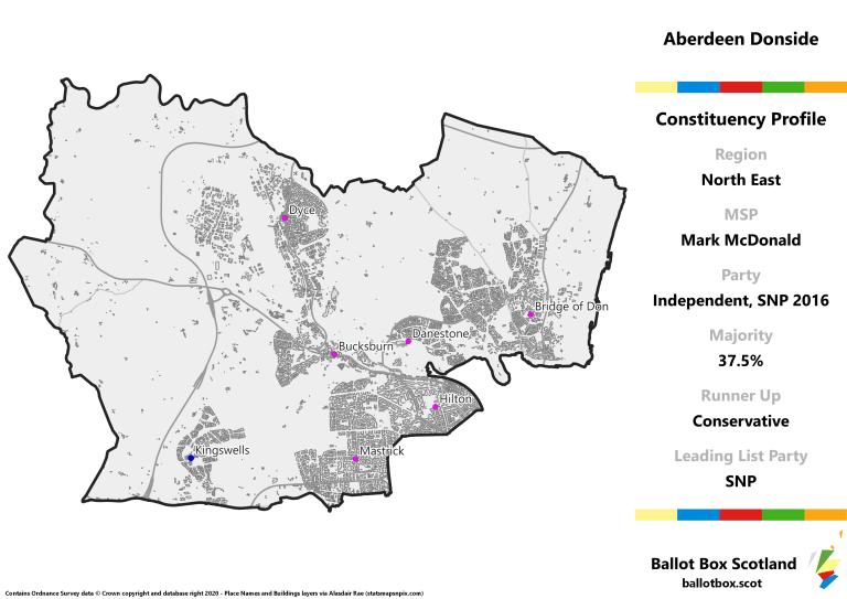 North East Region - Aberdeen Donside Constituency Map