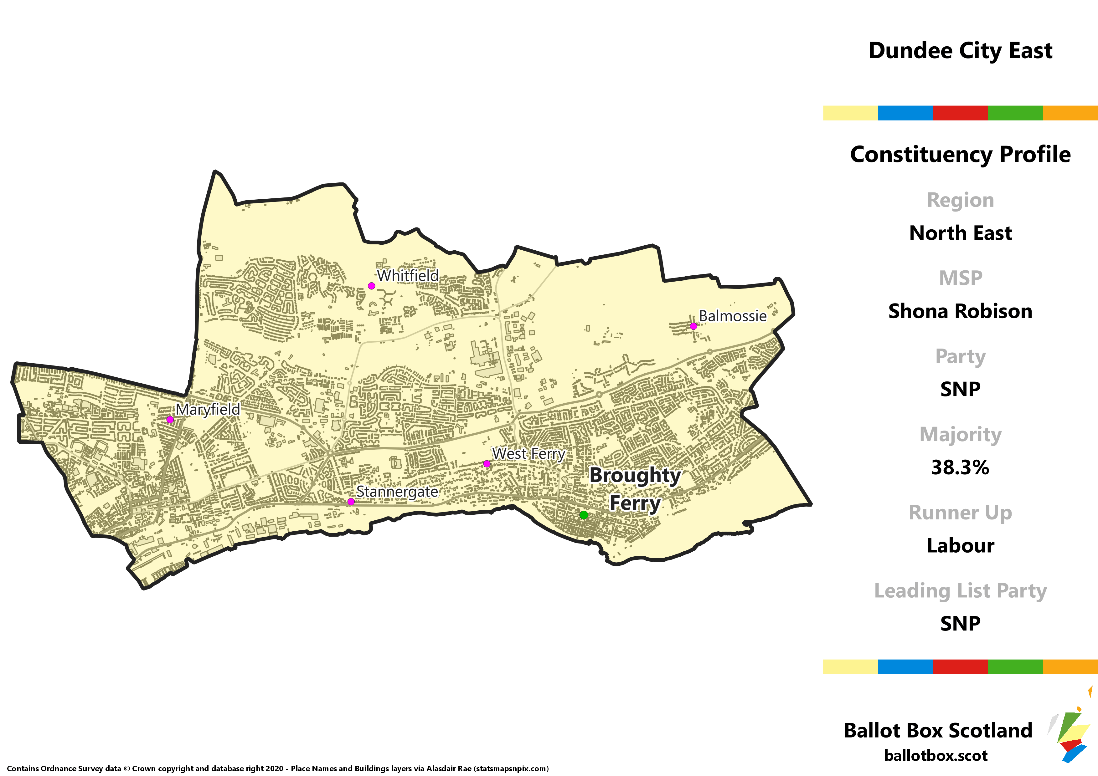 North East Region – Dundee City East Constituency Map
