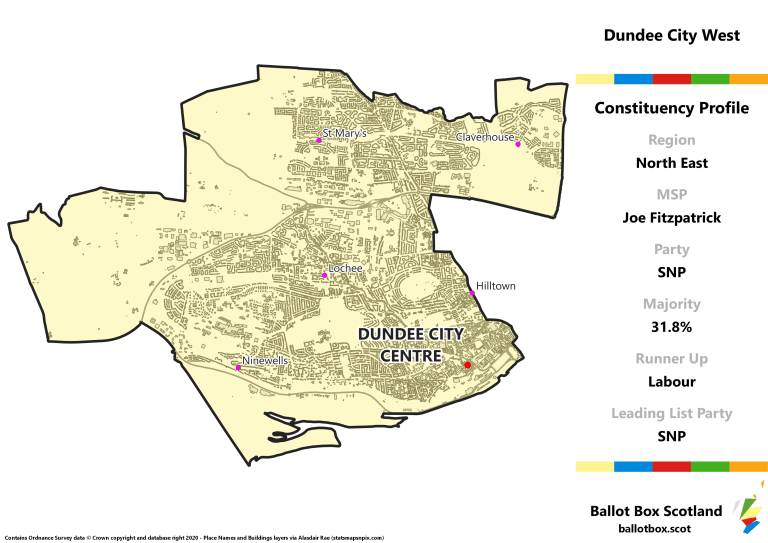 North East Region - Dundee City West Constituency Map