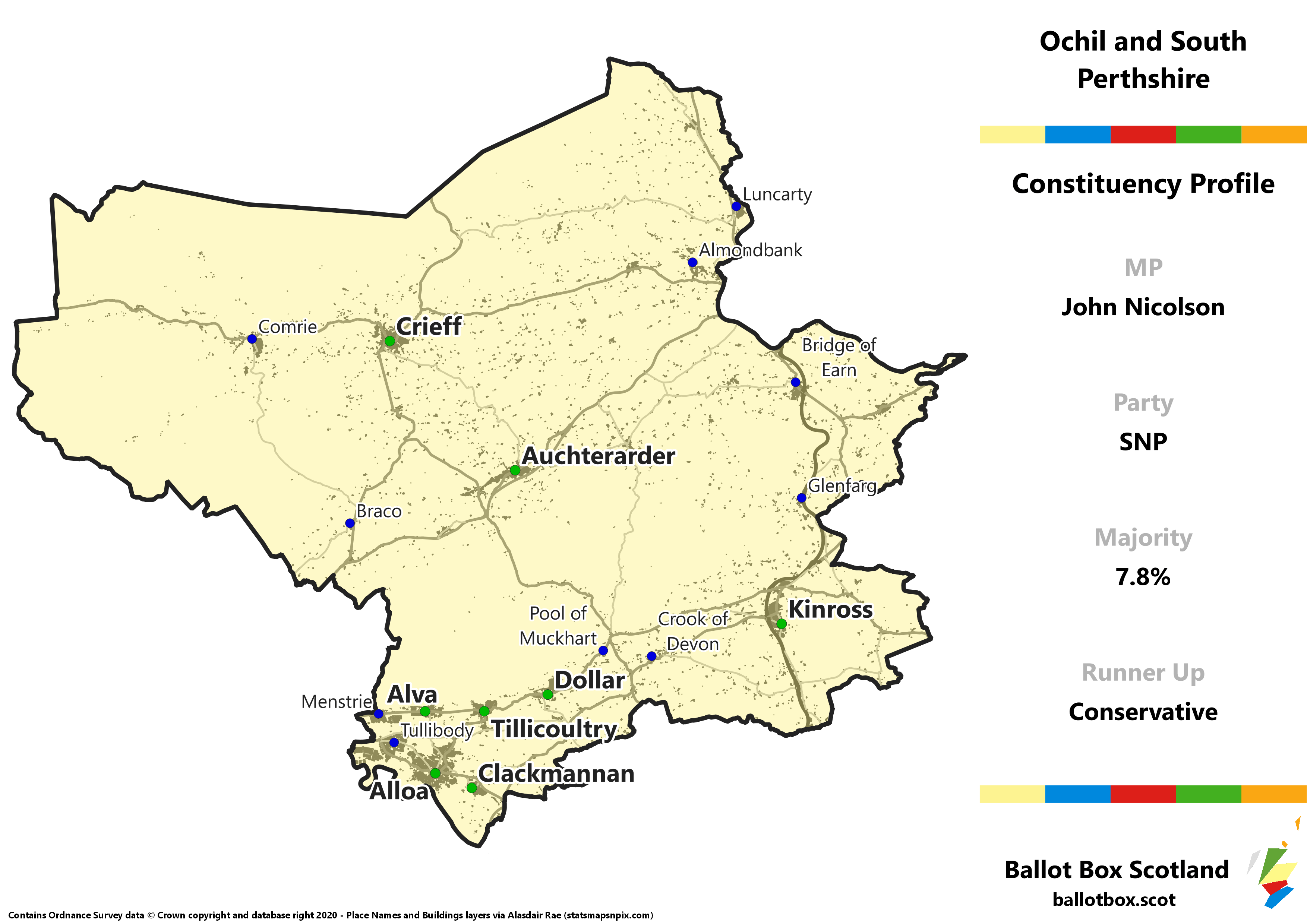 Ochil and South Perthshire Constituency Map