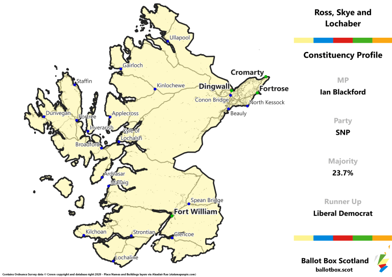 Ross, Skye and Lochaber Constituency Map