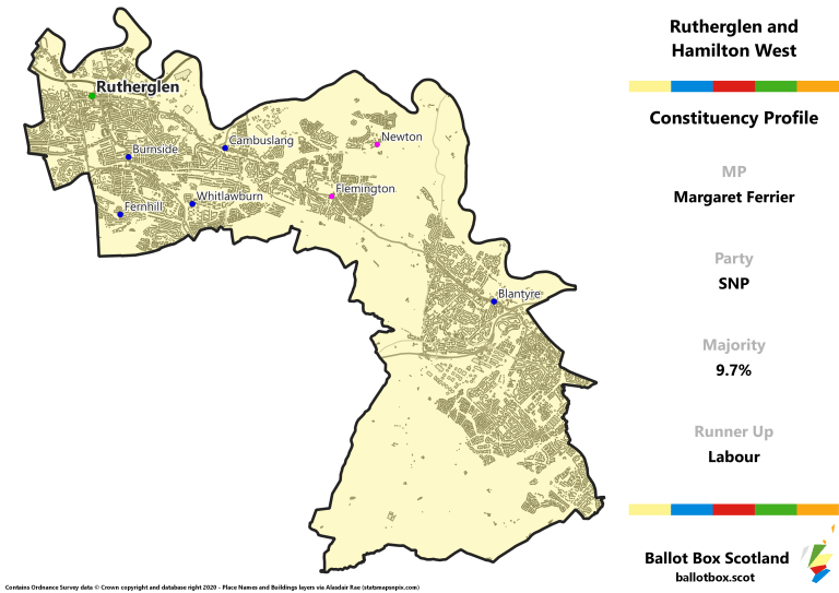 Rutherglen and Hamilton West Constituency Map