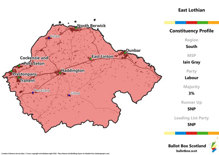 South Region - East Lothian Constituency Map