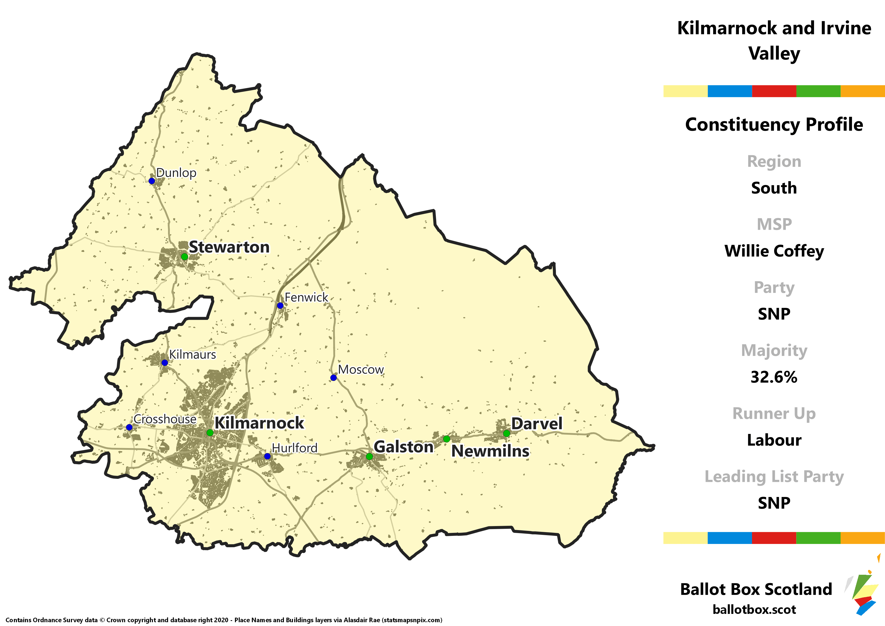 South Region – Kilmarnock and Irvine Valley Constituency Map
