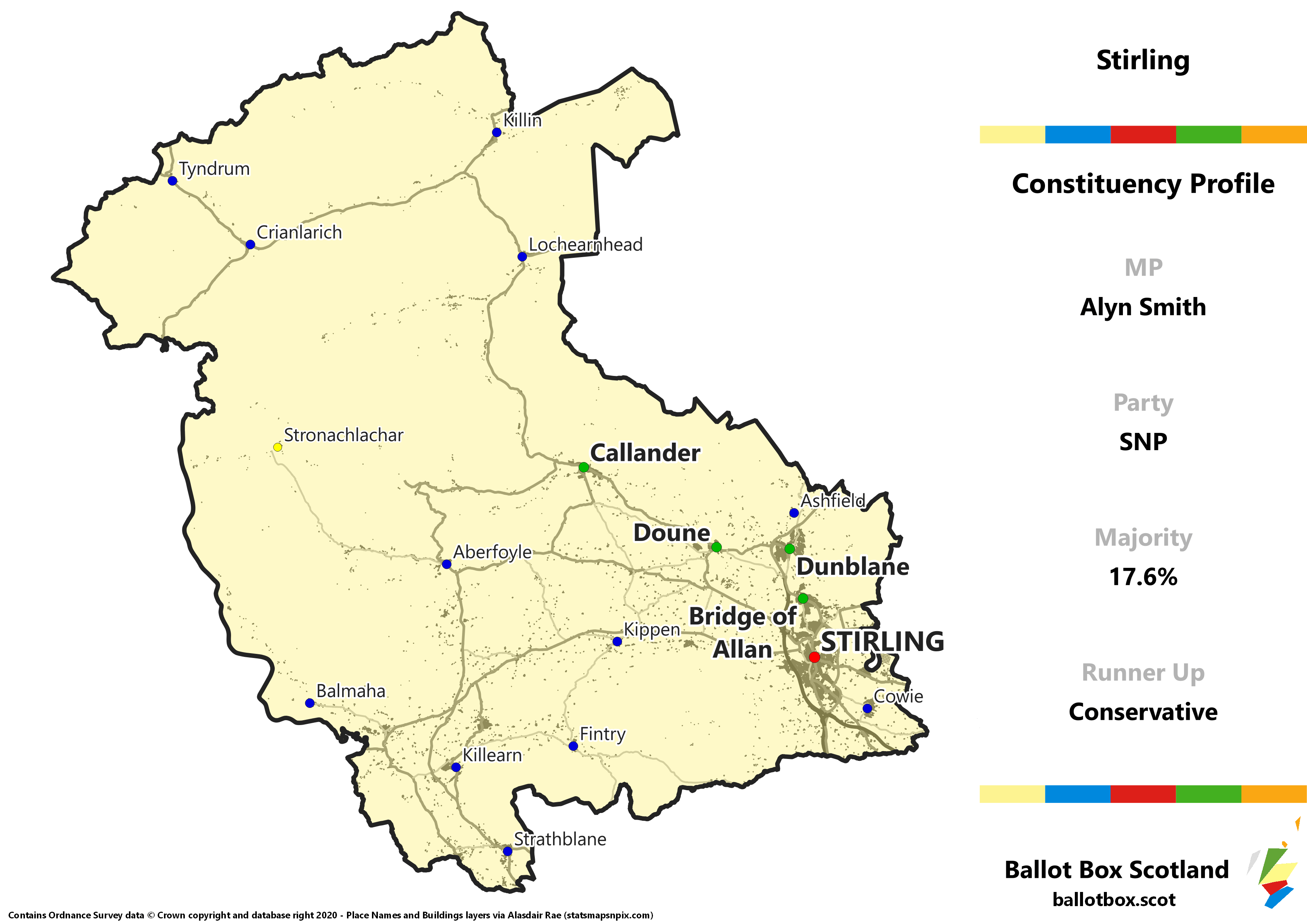 Stirling Constituency Map