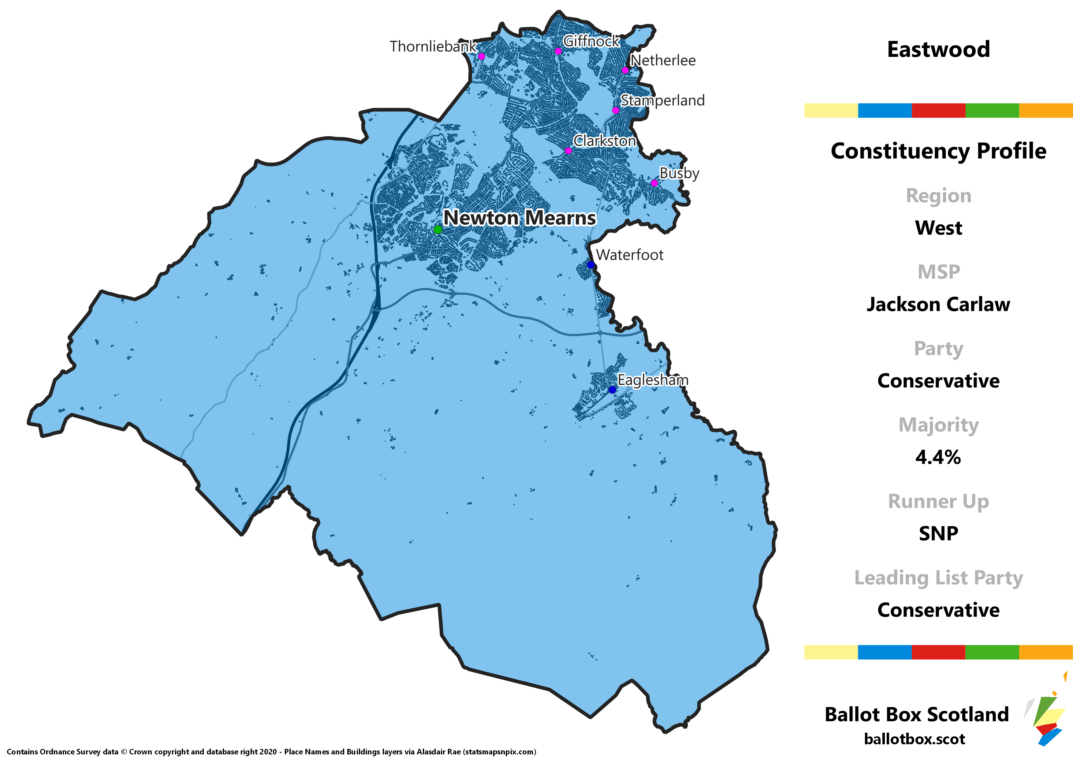West Region – Eastwood Constituency Map