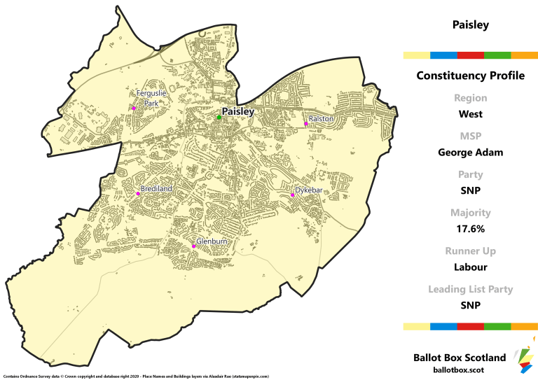 West Region - Paisley Constituency Map