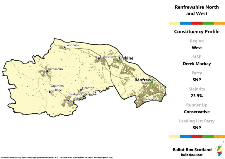 West Region - Renfrewshire North and West Constituency Map