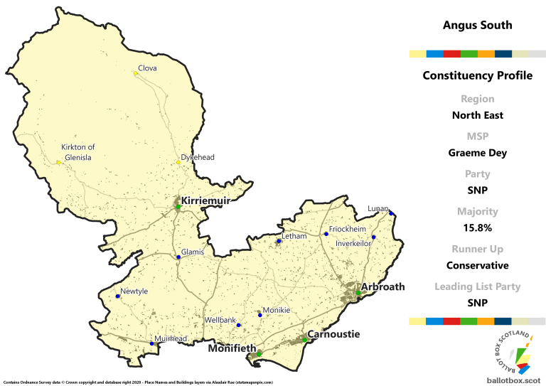 North East Region - Angus South Constituency Map