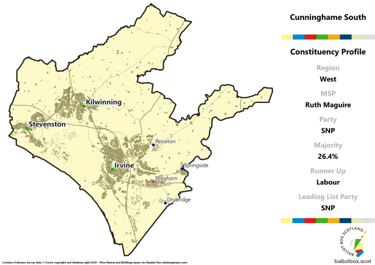West Region - Cunninghame South Constituency Map