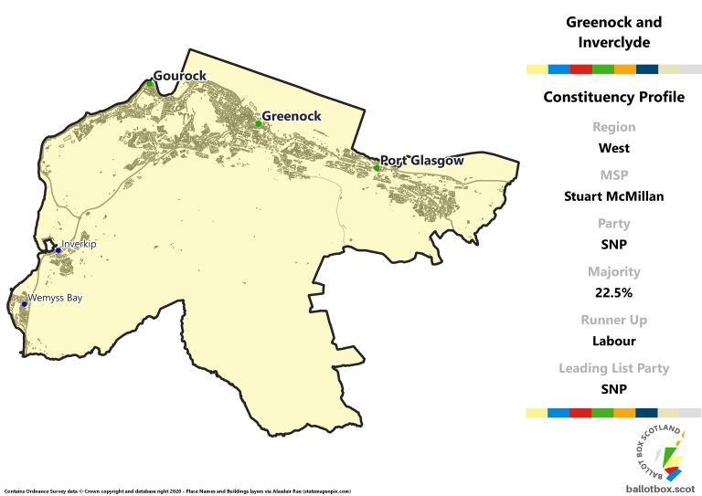 West Region - Greenock and Inverclyde Constituency Map