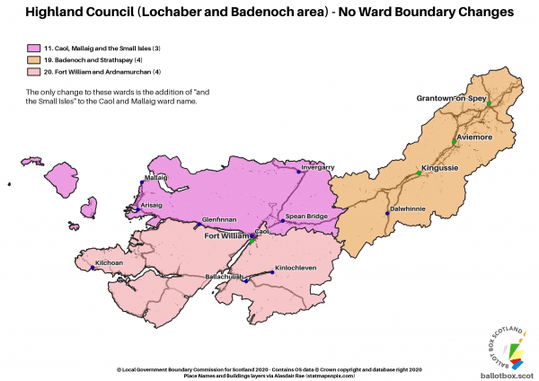 Lochaber and Badenoch Boundaries