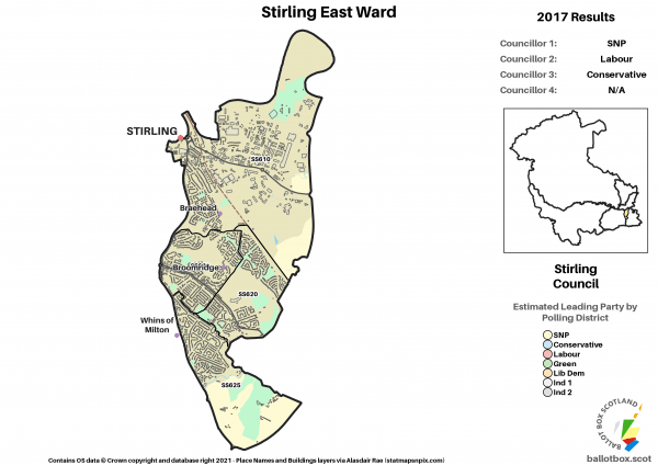 Stirling East Ward Map 2017 NEW