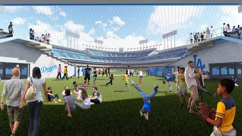 Dodger Stadium renovation rendering