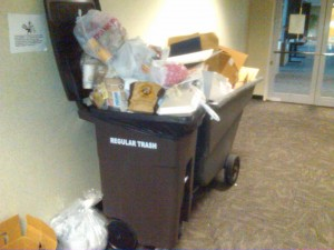 The failed centralized trash idea.  Some times an idea can stink in more ways than one. Photo R. Anderson