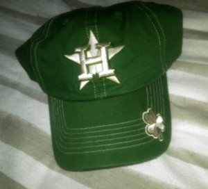 The Houston Astros joined the St. Patrick's Day green movement this season. Photo R Anderson