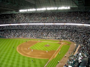The Boston Red Sox invaded Minute Maid Park for a three-game series back in 2011 and the visiting fans were treated to a little Neil Diamond music to feel right at home. Photo R. Anderson