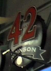 In 1997 all 30 MLB teams were told to retire the number 42 in honor of Jackie Robinson. Photo R. Anderson