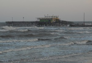Much like the Hooter's restaurant the 61st Street pier fell victim to the pounding storm surge of Hurricane Ike. While the Hooter's has yet to be rebuilt a new version of the pier has returned to the shore. Photo R. Anderson