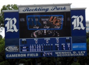 UCF and Rice University are set for a showdown with the Conference USA crown at stake. Photo R. Anderson