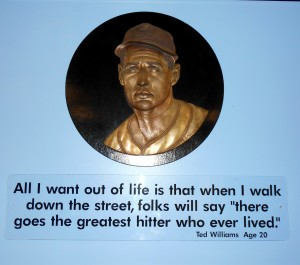 The Ted Williams Museum inside Tropicana Field is well worth checking out. Photo R. Anderson.
