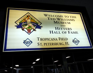 It has a roof to keep out the rain. It has ice cold AC to set you free. It has a ray feeding tank and the Ted Williams Museum. What Tropicana Field lacks is respect from the wider baseball community who seem set on tearing it down. Photo R. Anderson