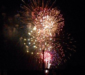 The third leg of the All-American triangle included fireworks, lots and lots of fireworks. Photo R. Anderson