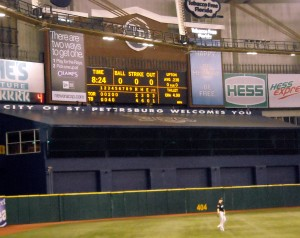 Fresh off their first World Series appearance in 2008 I visited the Tampa Bay Rays in 2009 for a long overdue trip to Tropicana Field. Photo R. Anderson