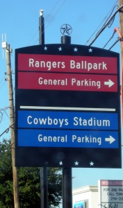 A couple of years ago the Rangers got a new neighbor when the Dallas Cowboys came to town.  Photo R. Anderson