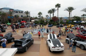 My All-American try not to think about Italy weekend started with a circle of Camaros. Photo R. Anderson