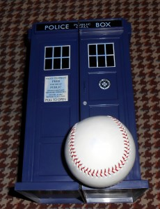 If I had a TARDIS, like the main character in Doctor Who I would travel through time and space checking out all of the key baseball moments. Photo R. Anderson