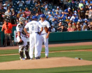 The Atlantic League of Professional Baseball was the first to use a pitch clock when the Sugar Land Skeeters and other teams implemented it last year. Photo R. Anderson