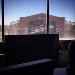 Students will operate the NCAA Final Four Social Hub overlooking Lucas Oil Stadium in Indianapolis.