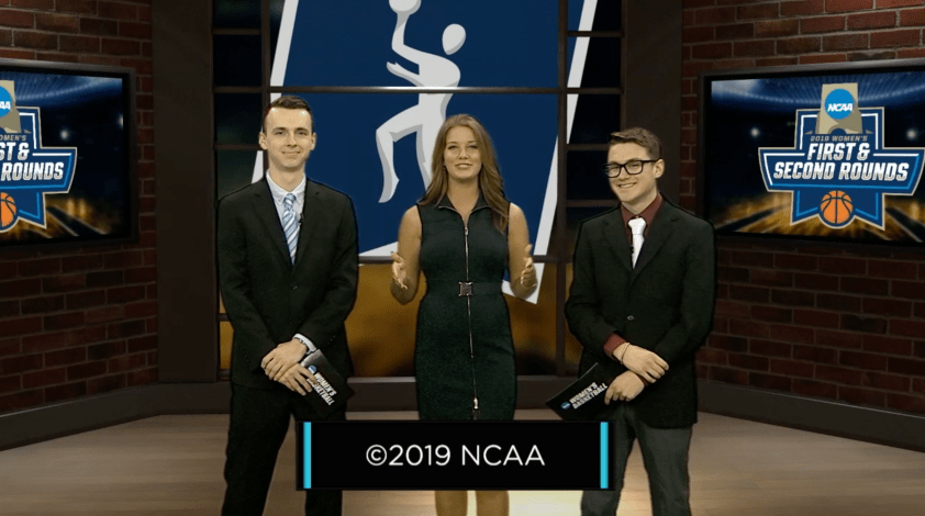 Jack Kizer, Rachel Berry and Jarin Matheny will host NCAA®️ Women's Basketball Tourney Watch.