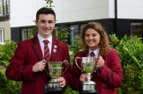 Ballyclare High School's Best Boy and Girl in Sport Jack Lewis and Jasmine Walker
